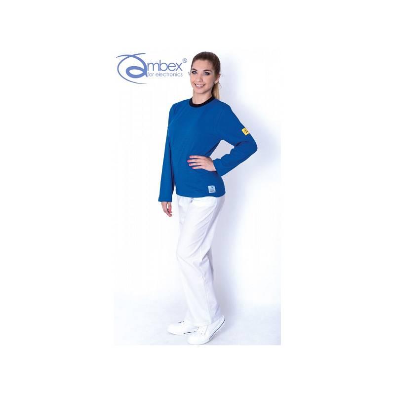 TS15 - LKO koszulka T-SHIRT długi rękaw bez kieszeni ESD
