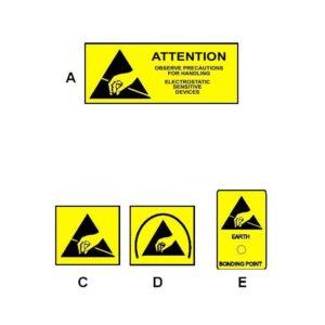 Nalepki ostrzegawcze ESD